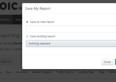Save Commonly Used Reports