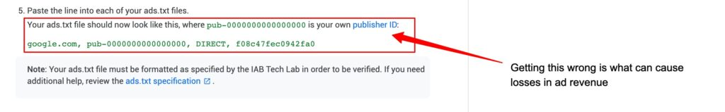 Making sure you have your publisher ID correct could determine whether ads.txt will help website ad earnings.