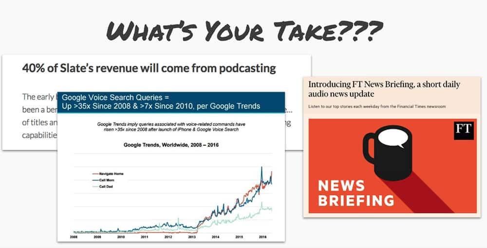 Are podcasts the next big thing in publishing?