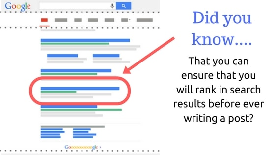 content ranking in search results
