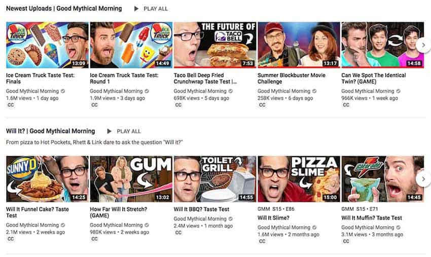What are good examples of successful YouTube thumbnails?