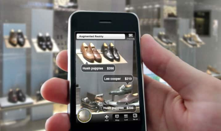 Augmented Reality shoe shopping experience through phone
