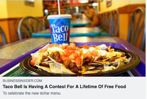 Taco Bell social contest
