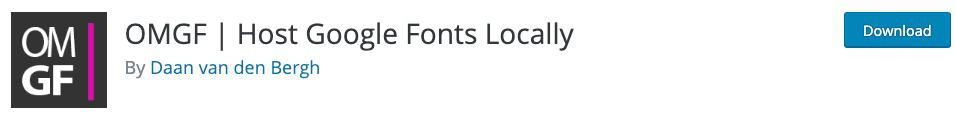 OMGF hosting Google Fonts locally