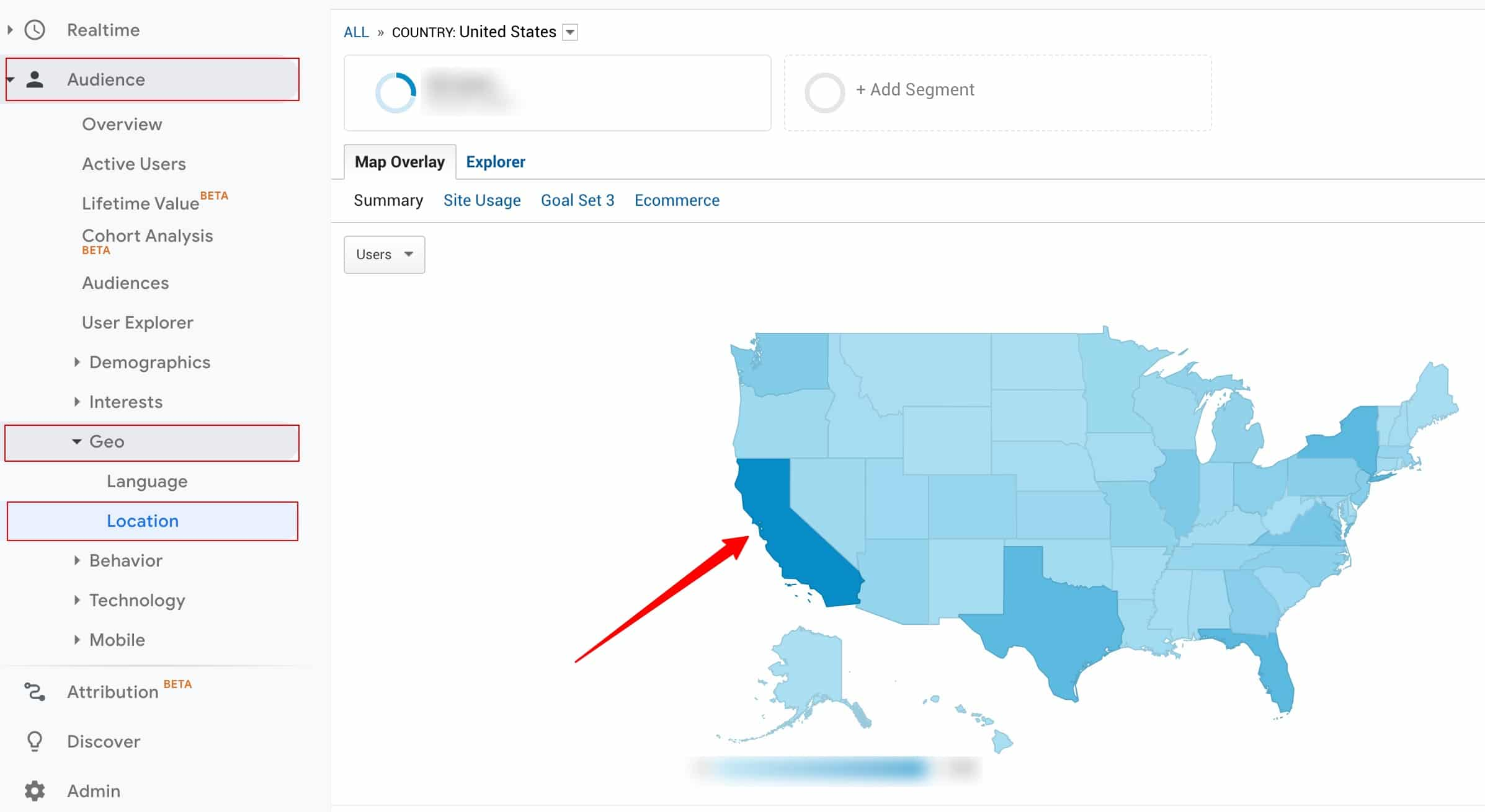 How to track California visitors on Google Analytics