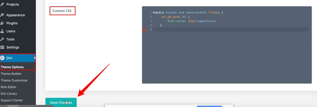 Divi Mobile Font Issues: Adding custom CSS to theme options