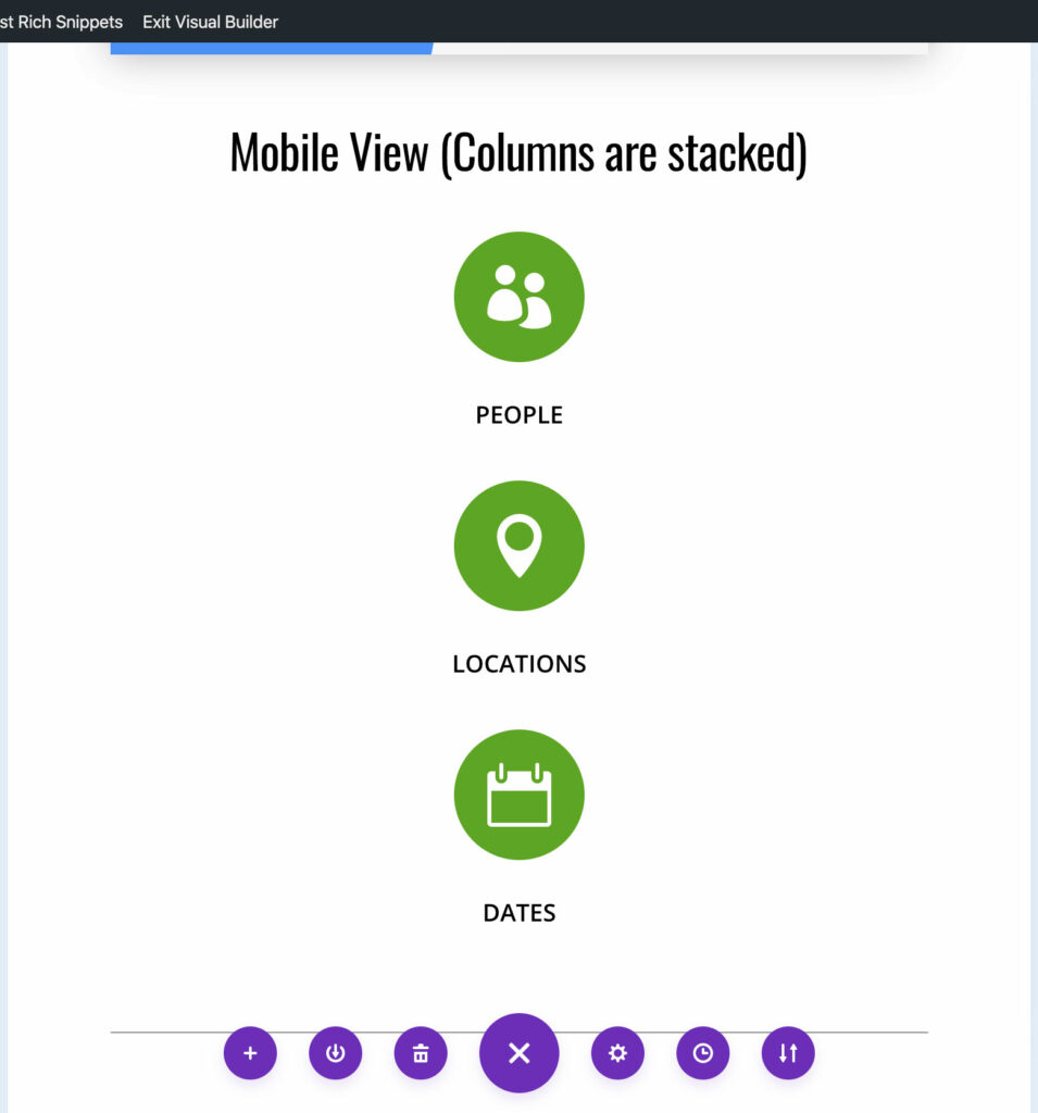 Divi mobile view incorrect