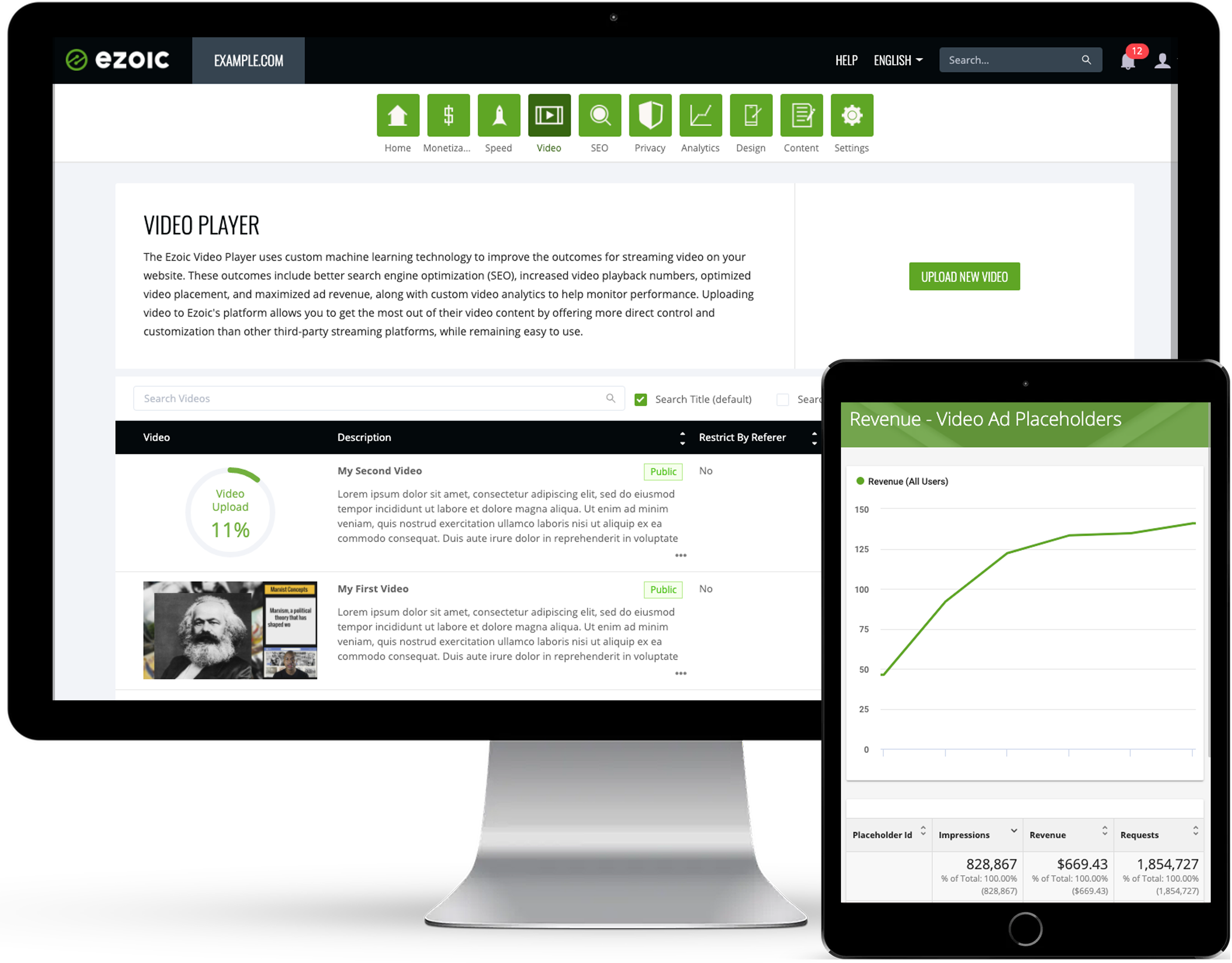 Earn more for your ad inventory with Ezoic Video