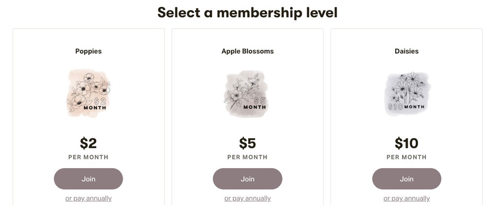 Create your membership tiers