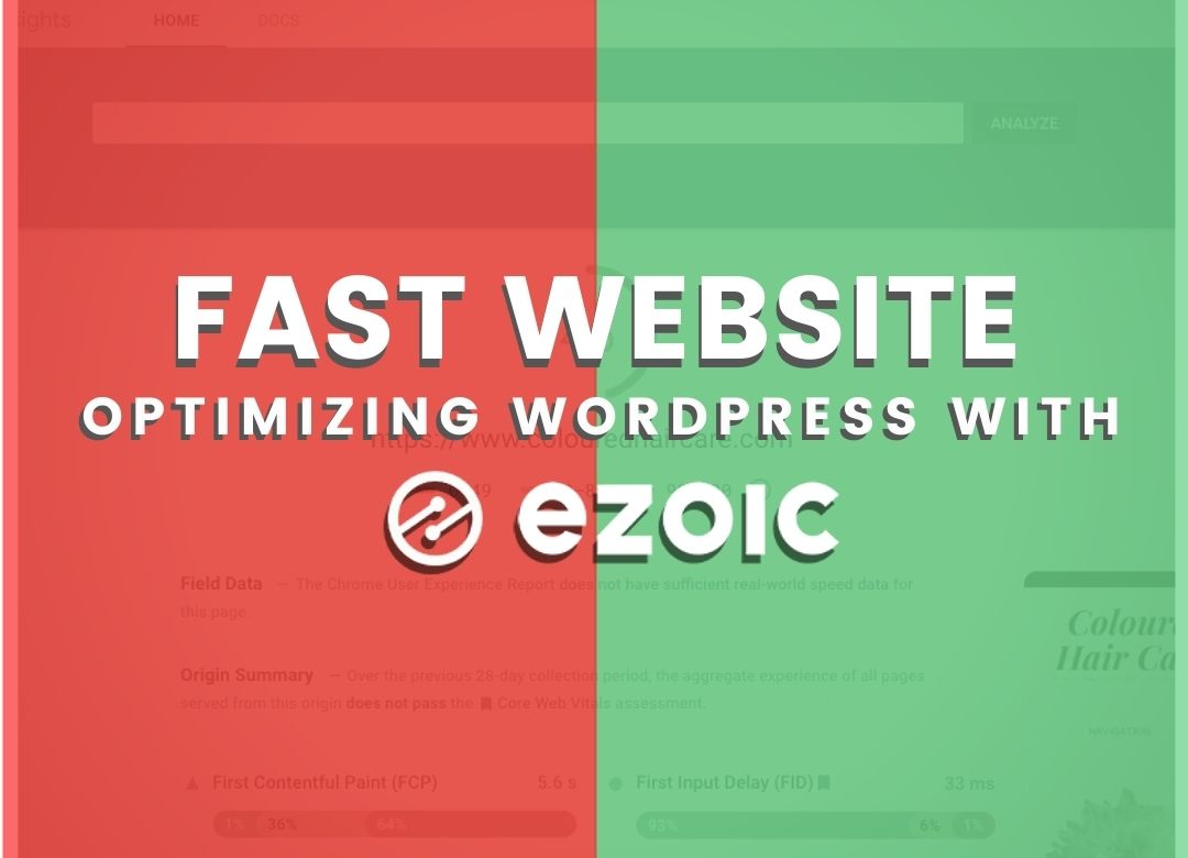 ezoic makes website faster in wordpress