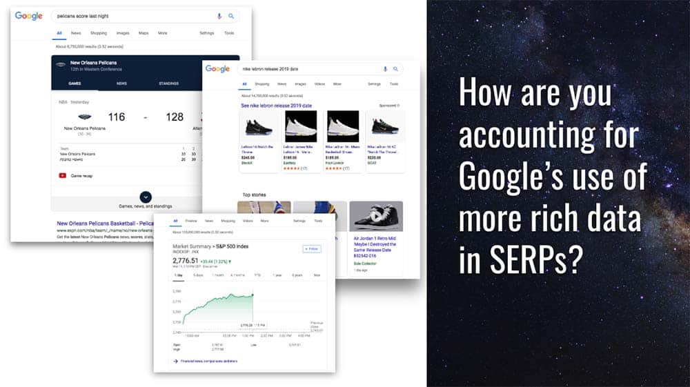 How do capitalize on Google's use of rich data in SERPS?