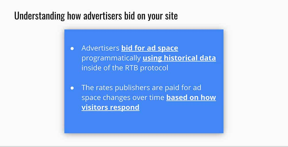 improved content monetization by increasing ad rates