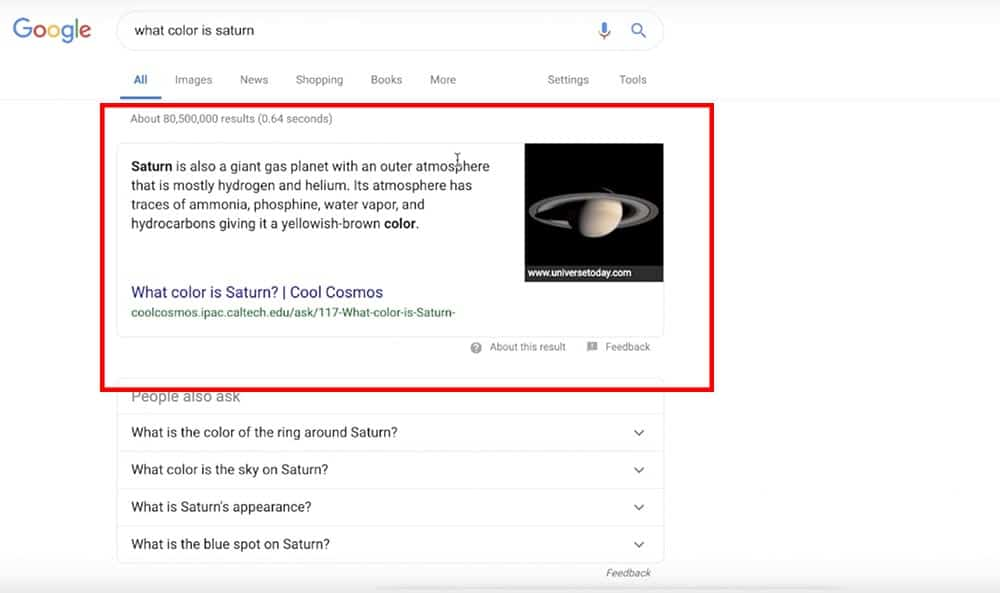 appear in rich snippets