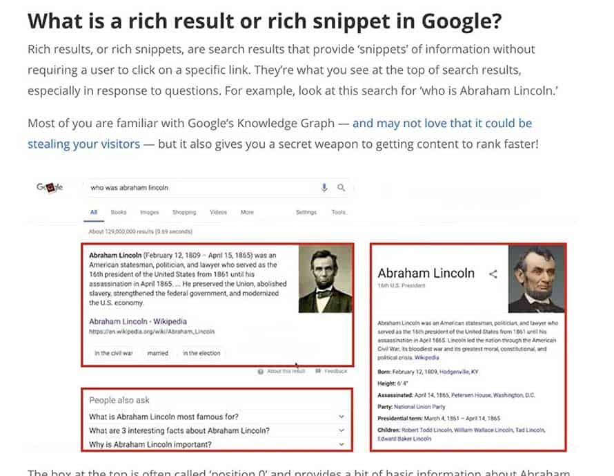 ways to show up in rich snippets