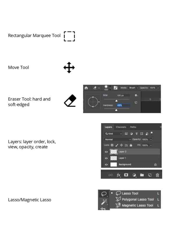Photoshop tools and shortcuts that can help