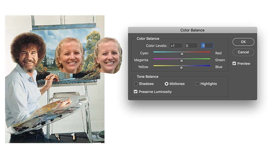 How to use the Opacity and Color Balance tools in Photoshop