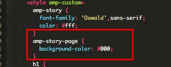 Customizing the code for your AMP story