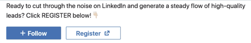 LinkedIn Call to Action button