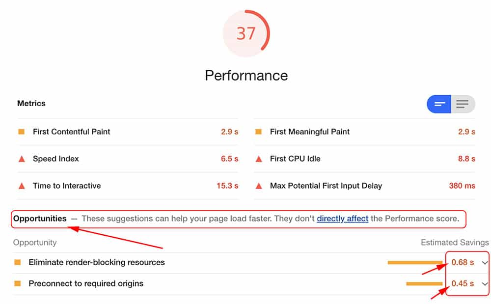 Are there problems with site speed audit scores?