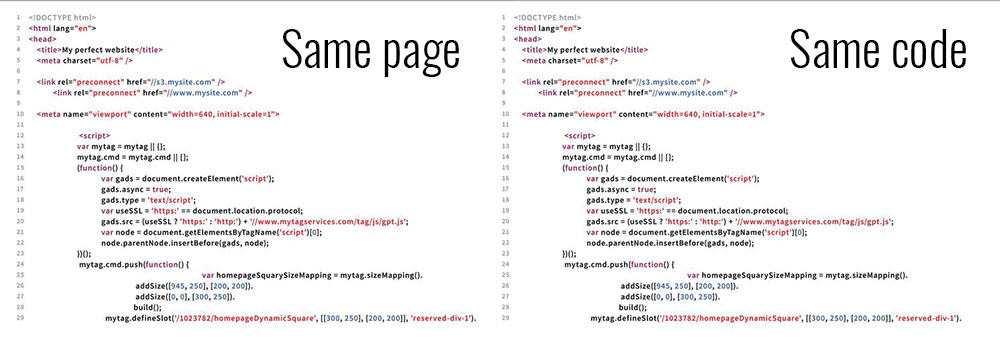 How can DevTools audits give different results for the same page and the same code?