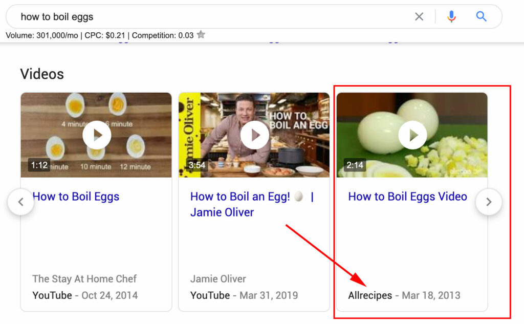 It is possible for Google to index your videos if you host your own videos