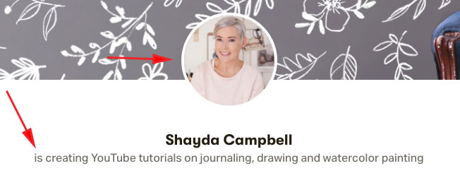 Create a patreon profile photo and short about me