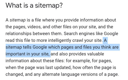 What are sitemaps